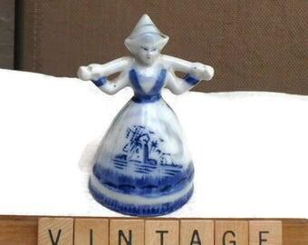 Dutch Gifts, Netherlands, Holland, Collectibles, Blue Porcelain Dutch Girl Figurine