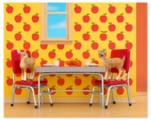 Retro kitchen animal art print with fawns: Fawning