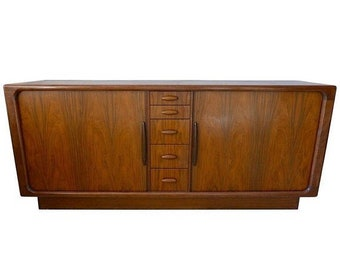 ON SALE Dyrlund Dresser Credenza of Rosewood from Denmark with Tambor Doors, circa 1970