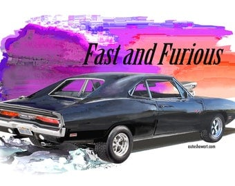 T-Shirt '70 Charger Fast and Furious Movie Car- Great Gift !