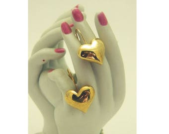 AVON Puffed Heart Earrings