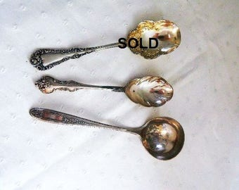 Antique Serving Spoons - International Deep Silver - Community Silver - Anchor Rogers