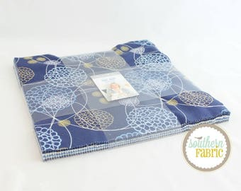 True Blue - Layer Cake by Zen Chic for Moda 10 INCH Quilting Fabric