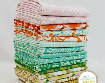 "Clementine - Fat Eighth Bundle - 15 - 9""x21"" Cuts - Heather Bailey - Free Spirit Quilt Fabric"