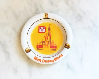 Vintage 70s Walt Disney World Ashtray w/ Original Disney Wrap CINDERELLA'S CASTLE Made in Japan