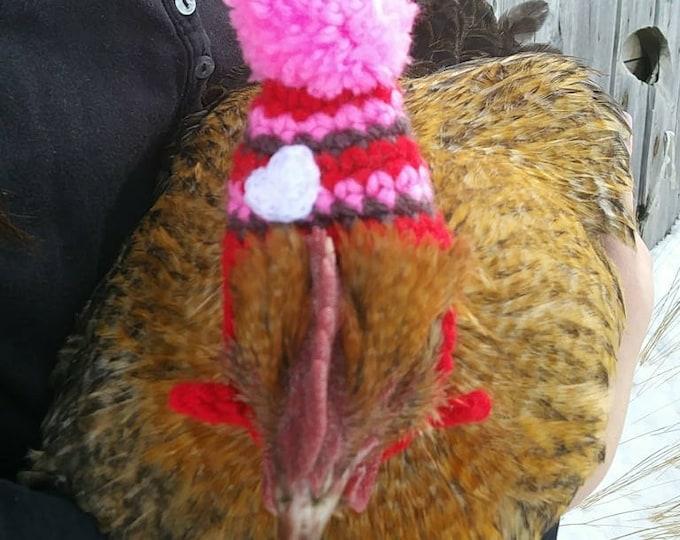 Chicken Hat,Custom Made,Valentines Day Chicken Hat,Turkey Hat,Goose Hat,Poultry Hat,Goose Hat,Valentines Day Hat,Pet Hat,Chicken Lover