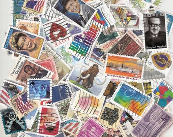 100 JUNK STAMPS for Crafts Used US  Postage Stamps (All are damaged in someway) What You See is What You Get!