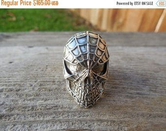 ON SALE Evil Spiderman ring in sterling silver