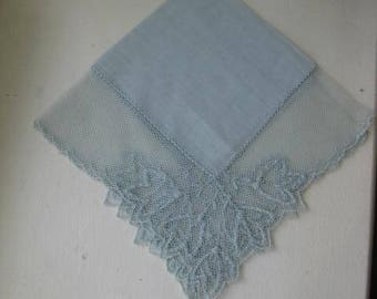 Vintage Handkerchief For The Bride To Be For Something Old And Blue