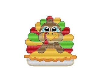 Plastic Canvas Turkey Pot Pie Wall Hanging  Instant Download PDF FORMAT