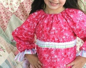 Sale Dreamy Girl - Ellie Inspired Peasant Pants Pajama PDF pattern - sizes 1-12 and matching doll