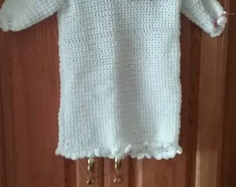 Infant girl hand crocheted dress