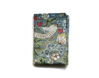 iPad stand and case, iPad Air, Mini, tablet sleeve, gadget cover, Arts and Crafts,  William Morris slate grey Strawberry Thief.