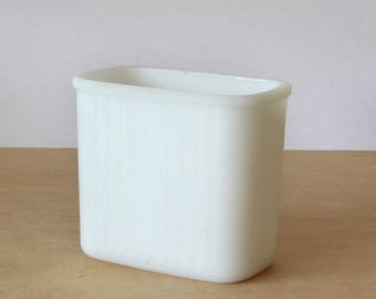 Vintage Hazel Atlas White Milkglass Refrigerator Container