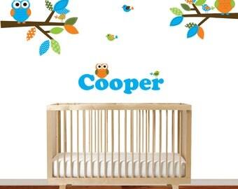 Children's Nursery Decor, Boys Nursery Bedroom Art, Vinyl Decals for Kids Rooms, Animal Decal Set, Vinyl Decals, Boys Wall Art, Decor
