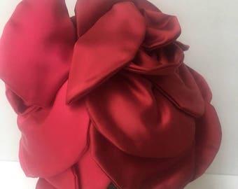 D Charles 1950s Pink Satin Hat Vintage Millinery Junia Hats Carson Pirie Scott