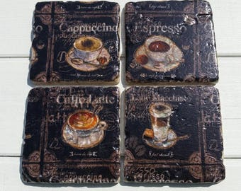Coffee Time Set of 4 Tea Coffee Beer Coasters