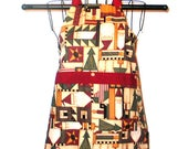 Childs Apron Christmas Holidays  Ages 3 thru 8 Reversible Kitchen Cooking  Baking Craft Projects