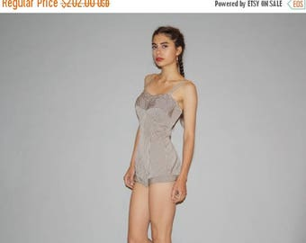 FLASH SALE - 1950s Perfection Fit by Roxanne Brown Gingham Swim Suit   - Vintage 50s Bathing Suit  - 50s Pinup One Piece Bathingsuit - WB043