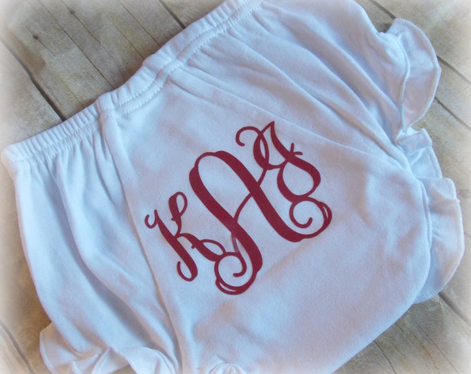 Monogram Baby Bloomer - Monogram Diaper Cover - Baby Girl Bloomer -  Baby Girl Diaper Cover - Baby Girl Gift - Baby Gift - Diaper Cover |