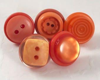 PushPins, Thumb Tacks, Button Pins, Orange Push Pins, for Office, Functional Office Decor, Floral, Unique Thumb Tacks