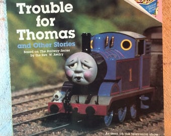 20% SALE 1989 Thomas the Tank Engine Trouble for Thomas Kids Picture Book