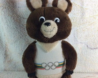 SUMMER SALE 1980 Misha the Russian Bear Mascot from the Olympic Games