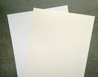 """25 Sheets White Card Stock, 8.5x11"""" Cardstock, 100% Recycled 8 1/2x11"""" (216x279mm) 80-100lb. cover stock, white or natural white/off-white"""