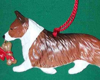 Pembroke Welsh Corgi Dog Christmas Ornament by Hot Diggity Dog Fabrics Home and Living Home Decor Ornaments and Accents