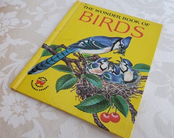 Vintage The Wonder Book Of Birds 1961 By Cynthia Koehler & Alvin Koehler, Children's Illustrated Nature Education