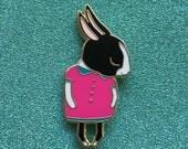 Shy Bunny Hard Enamel Pin