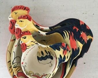 Summer Sale Vintage Rooster Teacup and Bowl Set
