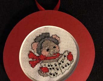Christmas Carole Singer Cross Stitch Ornament