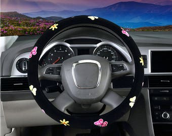 Automotive Women Embroidery Cute Car Steering Wheel Cover