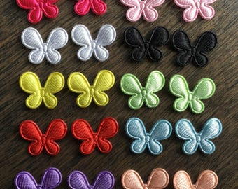 Mini butterfly appliqués for making hair clips