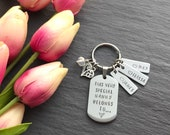 Personalised Mothers Day Gift - Gift for Grandmother - Hand Stamped Keyring - Gifts for Grandma - Gift for Mum - Grandparent Gift