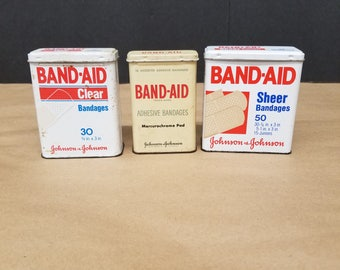 Set of 3 Vintage Band Aid Tins - Instant Collection