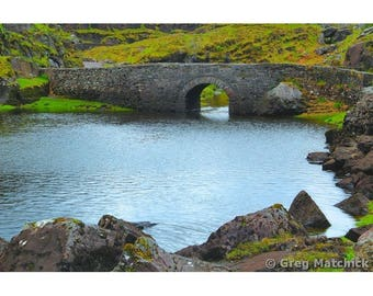 Fine Art Color Landscape Photography of Old Stone Bridge in Kilarney Park County Kerry Ireland
