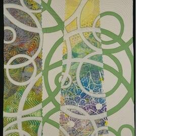 Handmade Art Quilt - Circuitious