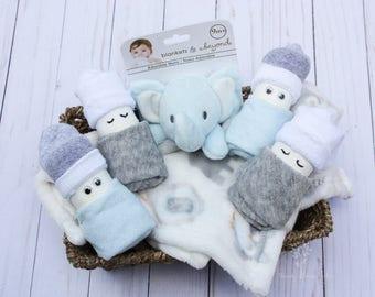 Baby boy gift basket / Baby shower gift / Baby boy lovie / Baby boy diapers