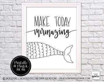 CLEARANCE!! MERMAID print // Mermaid gifts // mermaid art // mermaid printable // mermaid decor // instant download // mermazing decor