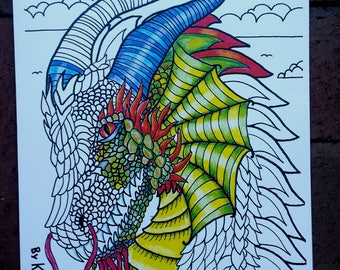 Kay larch studio by kaylarch on etsy coloring book for adults and children tales myths and lore by kay sciox Image collections
