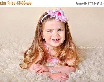 ON SALE Pink Newborn headband, baby headband, girl headband, newborn photography prop, vintage headband