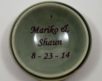 Customized Ring Dish/ Personalized Wedding Gift/ Custom Gift/ Porcelain Ring Dish/ Ring Dish/ Custom Wedding Gift