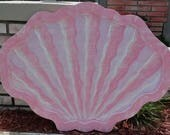 RESERVED For NICOLE BERENDOWSKY Clam Shell Twin Headboard, Sea Shell Wall Art, Tropical Wall Hanging