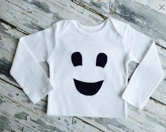 Friendly Ghost Baby Bodysuit Fall Halloween Clothing