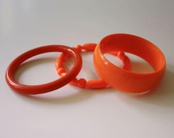 Orange Bangle Bracelets