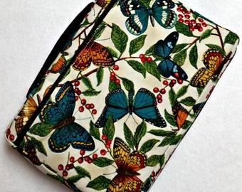 Bible Cover Custom Fit Blue Butterflies
