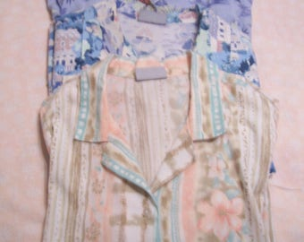Plus Siize 3X Womens Camp/Shirt Blouses Lot of 3 Summer Blouses, by Nanas Vintage Shop on Etsy
