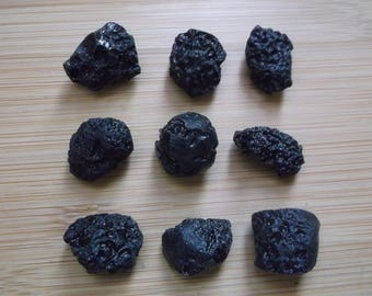 One Tektite - 9 Available - Approx. Average size 20mm Diameter